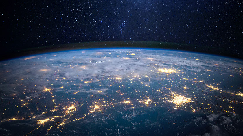 Digital Space the world earth World is One